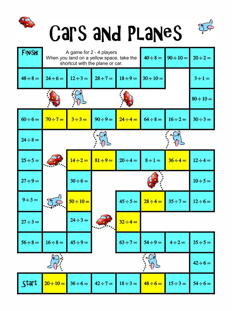 Worksheets Math Games Worksheet 7 best images of free printable math board games games