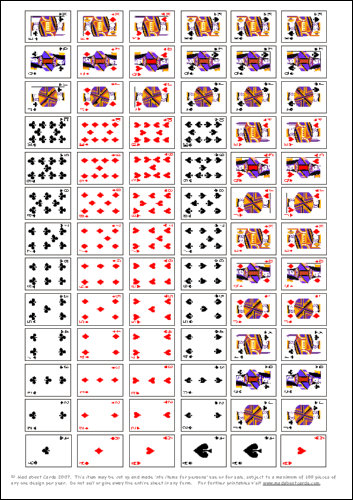 Deck Of Playing Cards Printable
