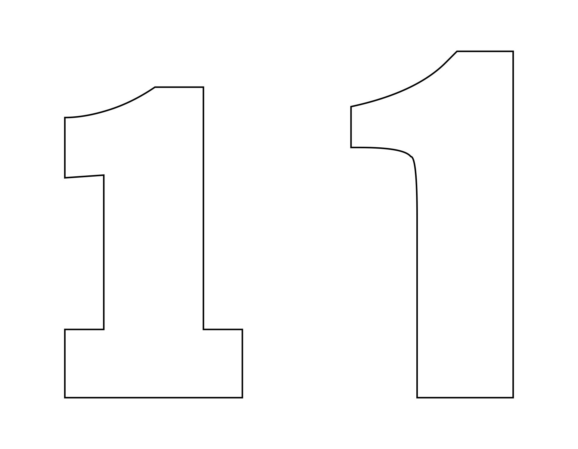 Printable Number 1