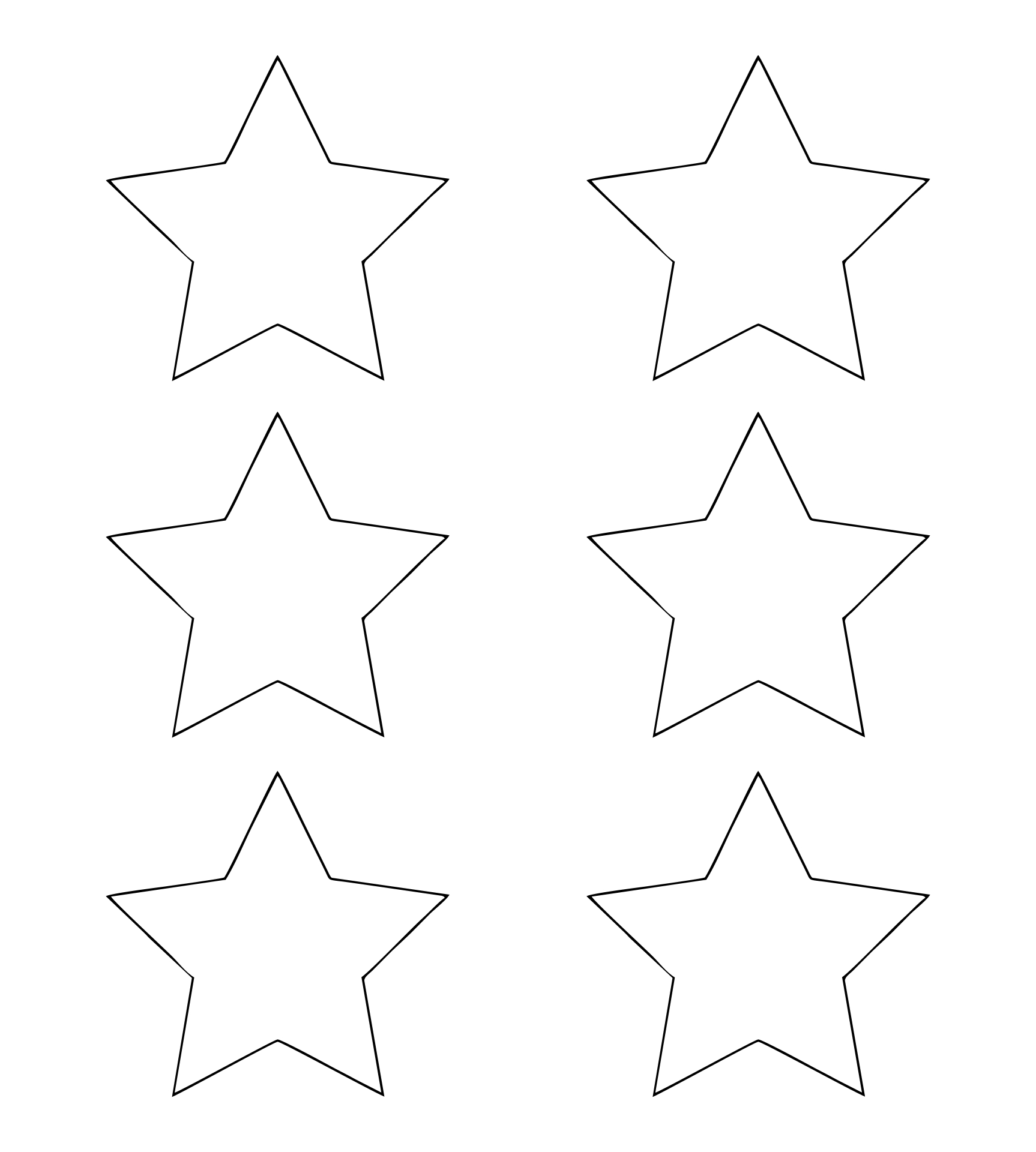 6 Images of Printable Christmas Star Ornaments