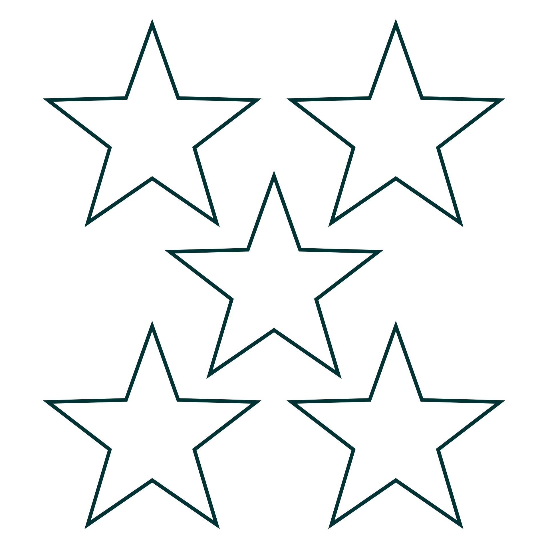 Printable Star Pattern Template