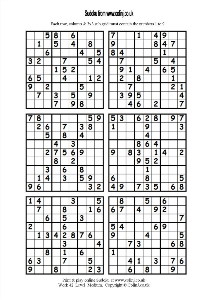 Unusual image inside printable sudoku puzzles 6 per page