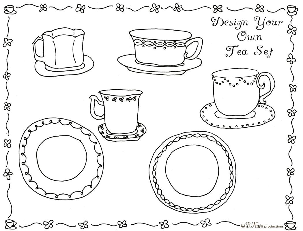 6 Images of Printable Tea Set