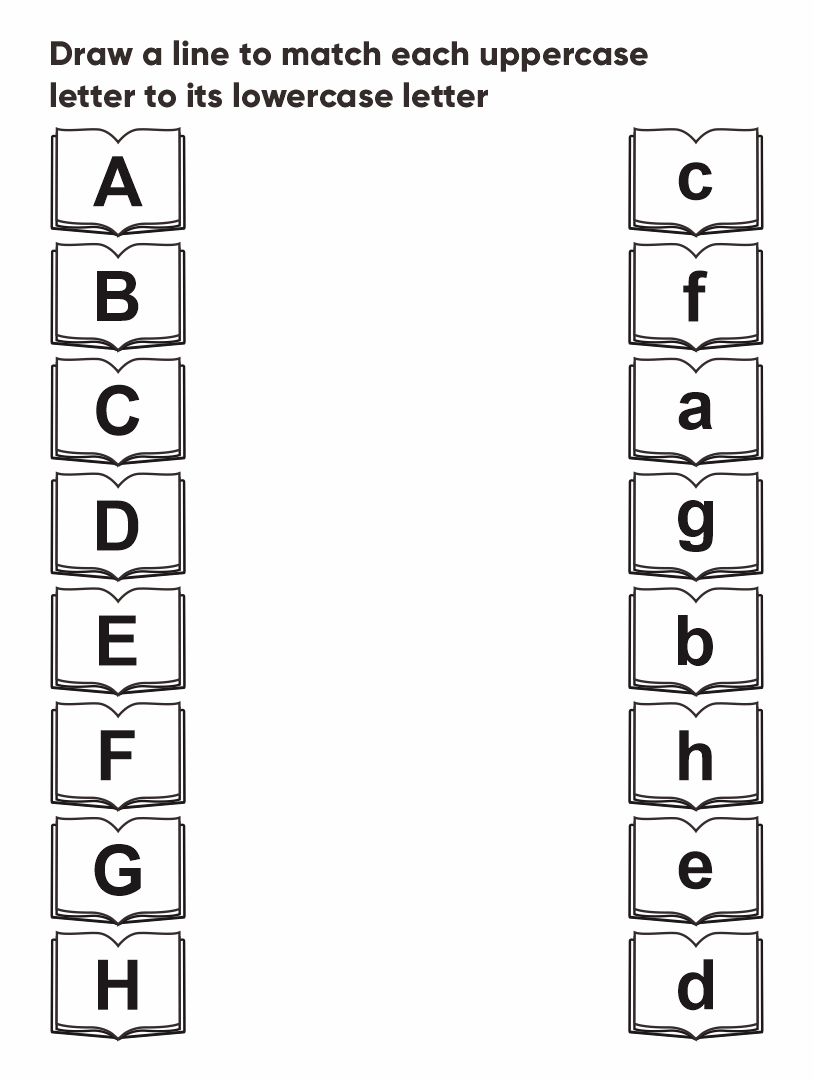 Printable Uppercase and Lowercase Letters Worksheets