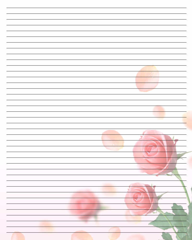 Printable Writing Paper with Lines