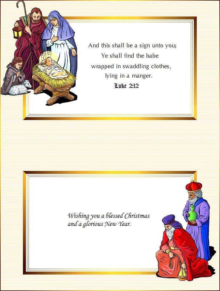 Seasons Greetings Christmas Cards Printable