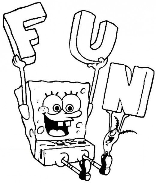 4 Images of Full Size Spongebob Coloring Pages Printable