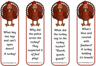 8 Images of Printable Thanksgiving Bookmarks With Jokes