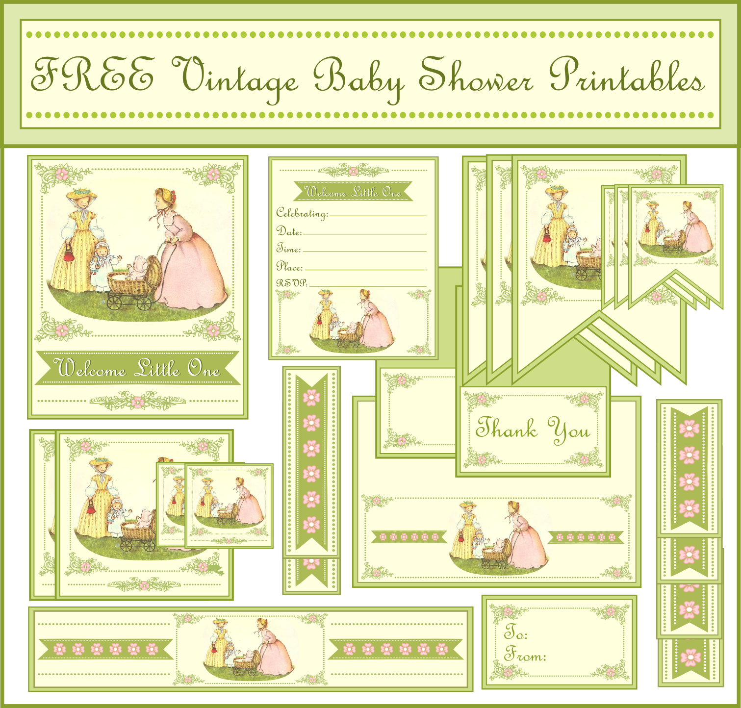 7 Images of Vintage Baby Printables Free