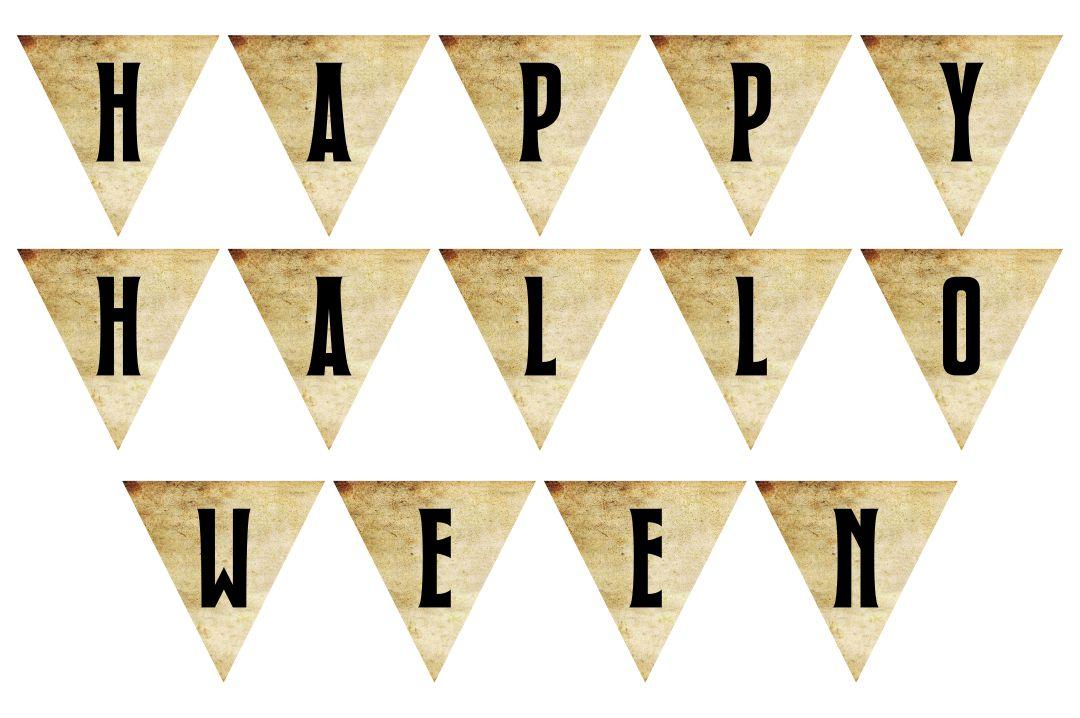 Vintage Halloween Banner Printable