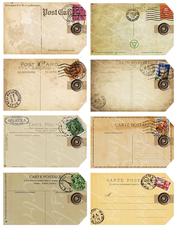 5 Images of Vintage Luggage Tags Free Printable