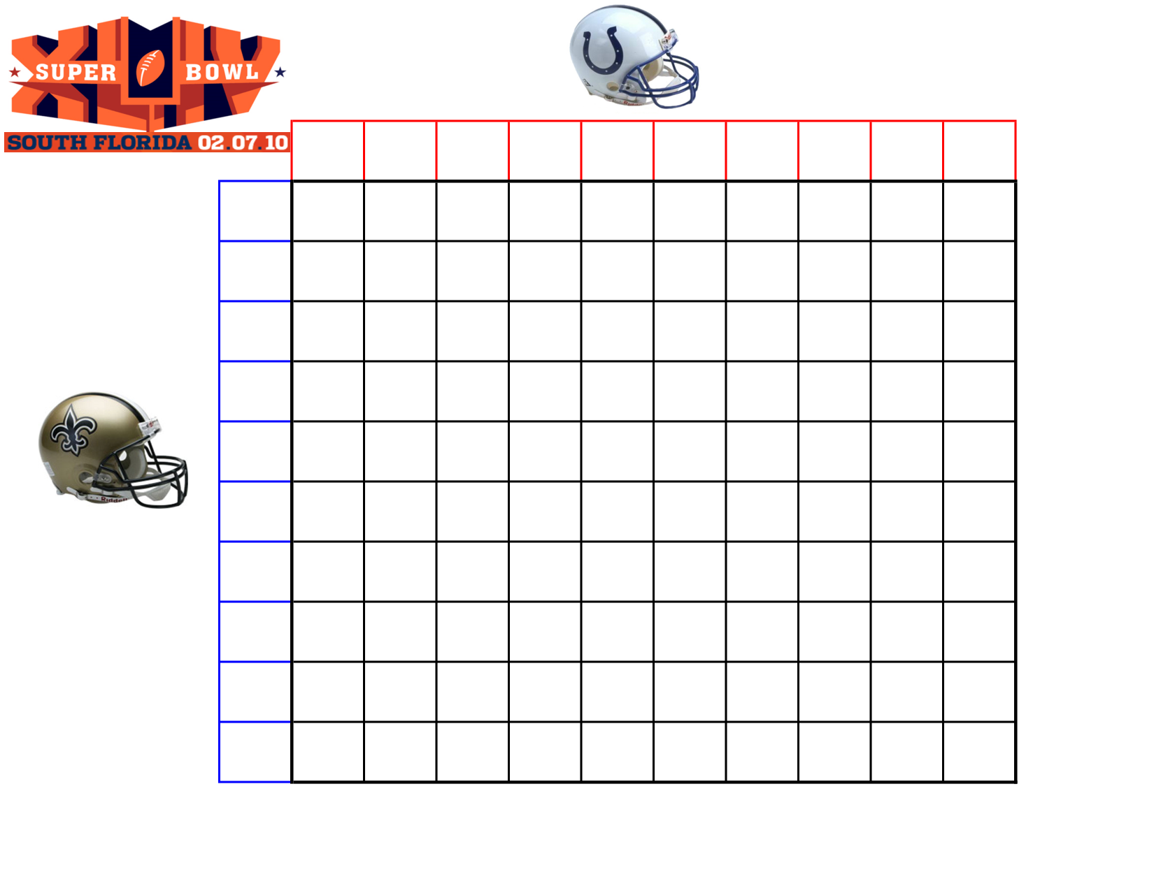 8 best images of extra large printable blank weekly for Free super bowl pool templates