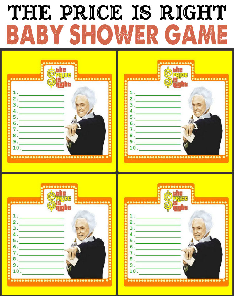 right prices right baby shower games printable price is right baby