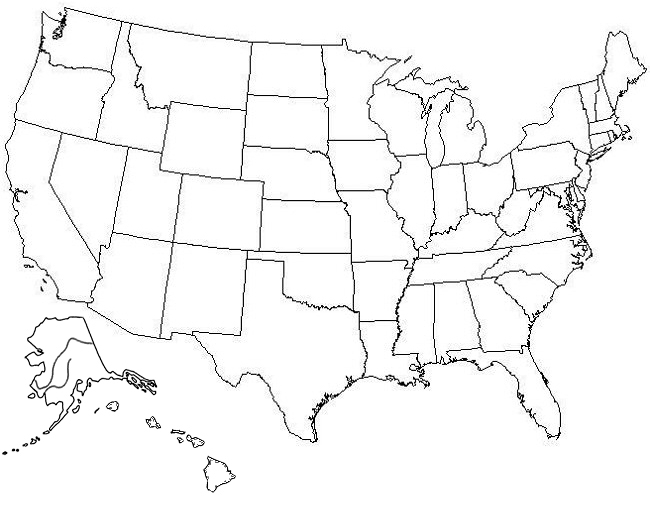 States Map Quiz 4 best images of printable map united states lesson ...