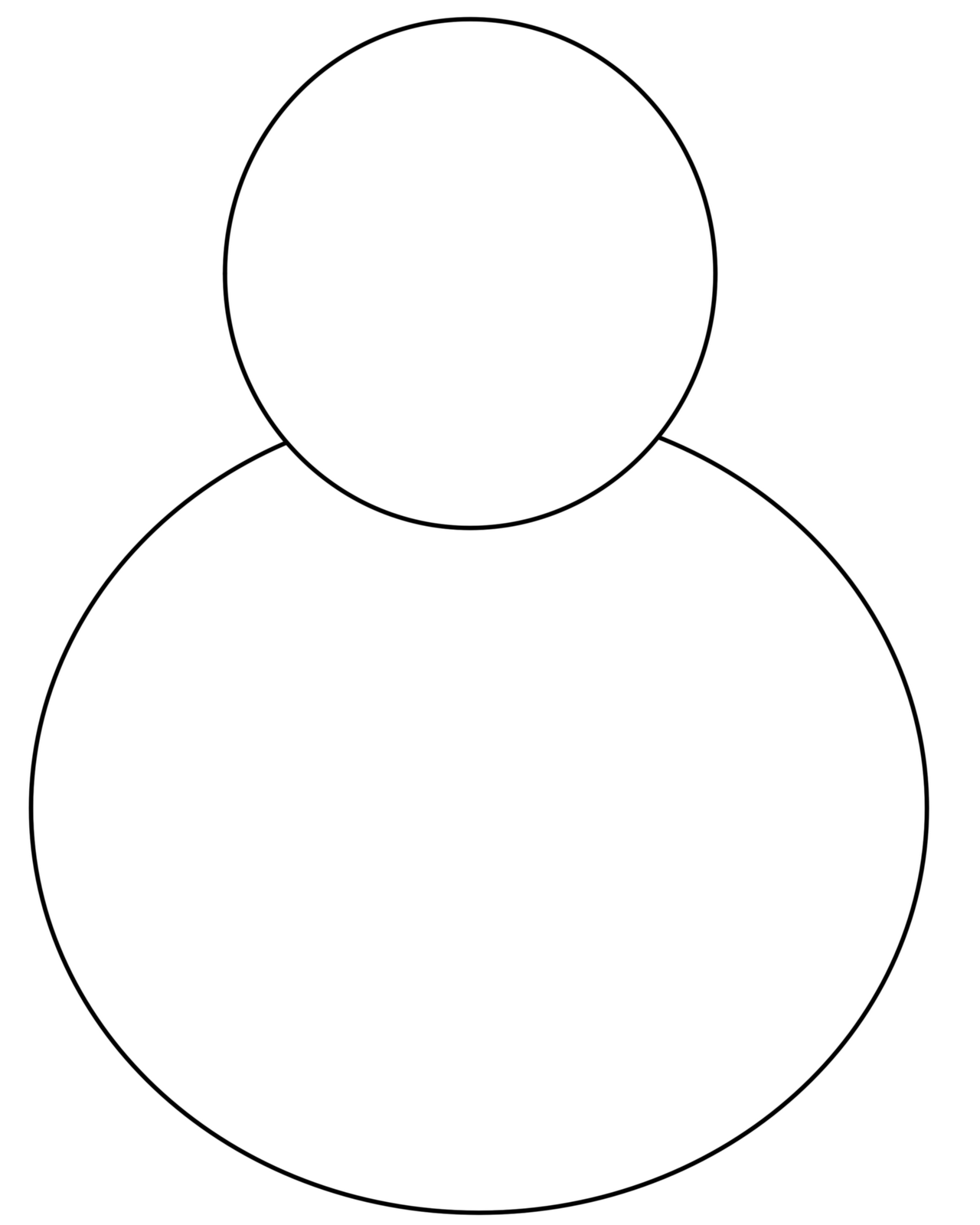 5 Images of Printable Blank Snowman