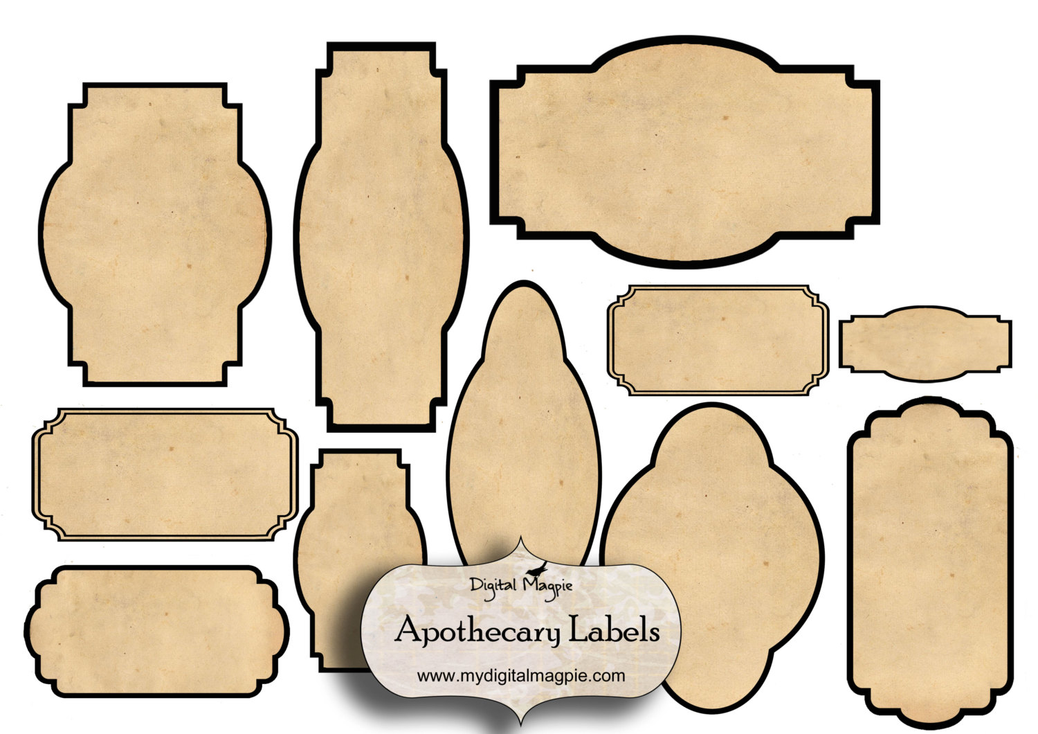 7 best images of free blank printable vintage jar labels for Labelblank templates