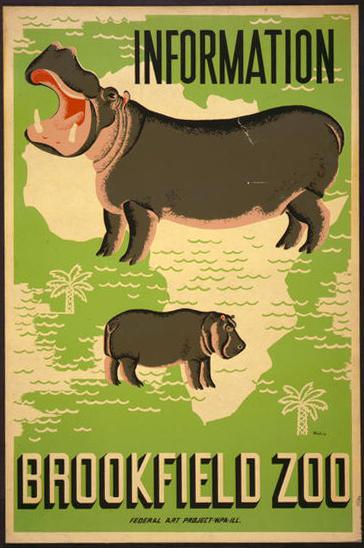 Brookfield Zoo Vintage Print