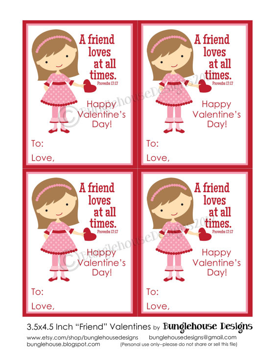 Valentine Cards For Friends Printable Love Quote And Valentines – Valentine Friendship Cards