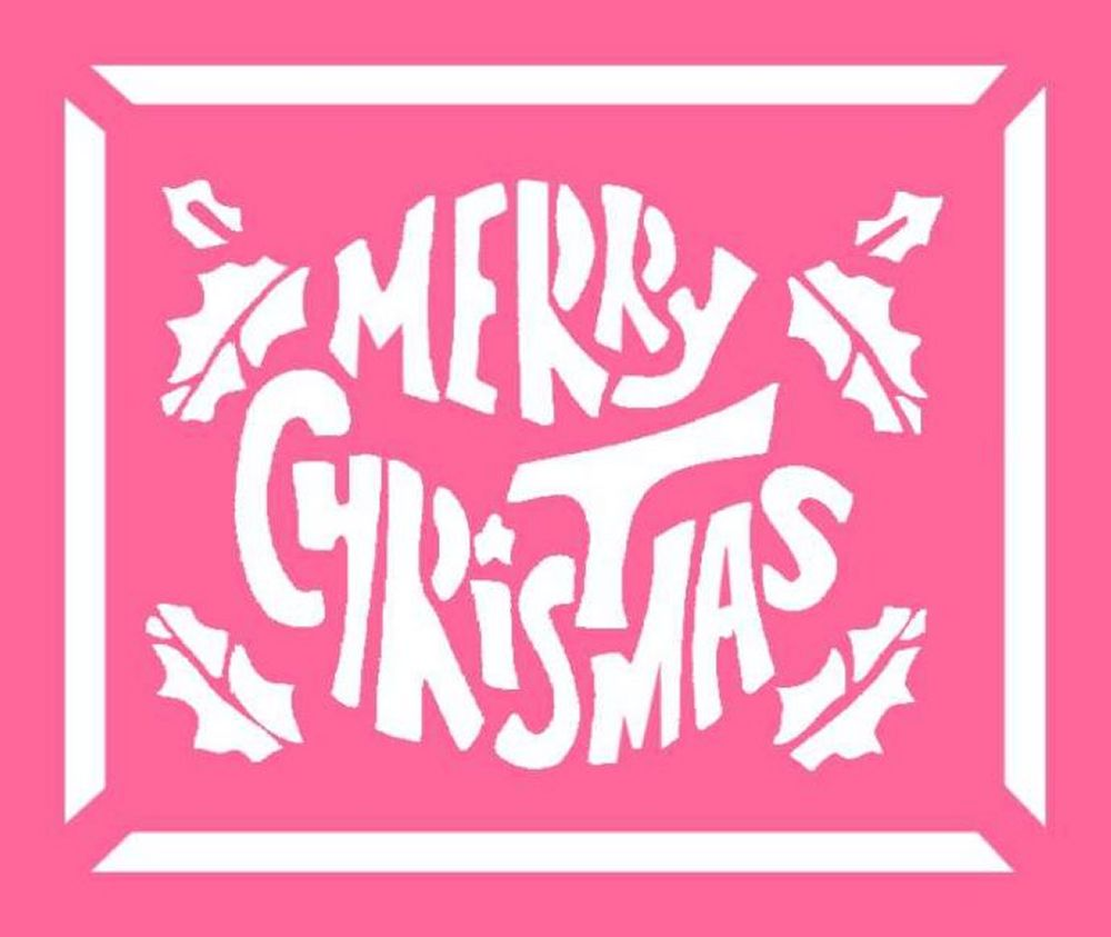 6 Images of Merry Christmas Printable Stencil