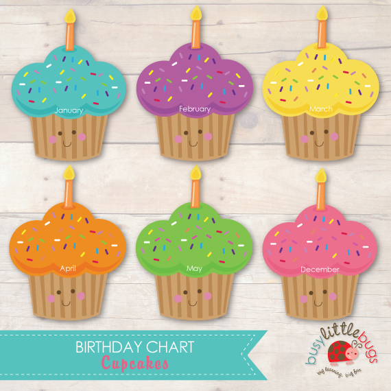 7 Images of Printable Monthly Birthday Chart