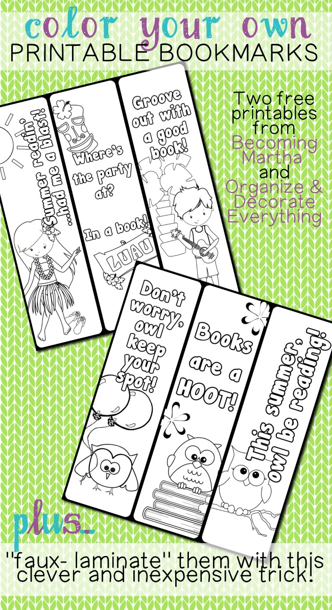 6 Images of Color Your Own Bookmarks Printable