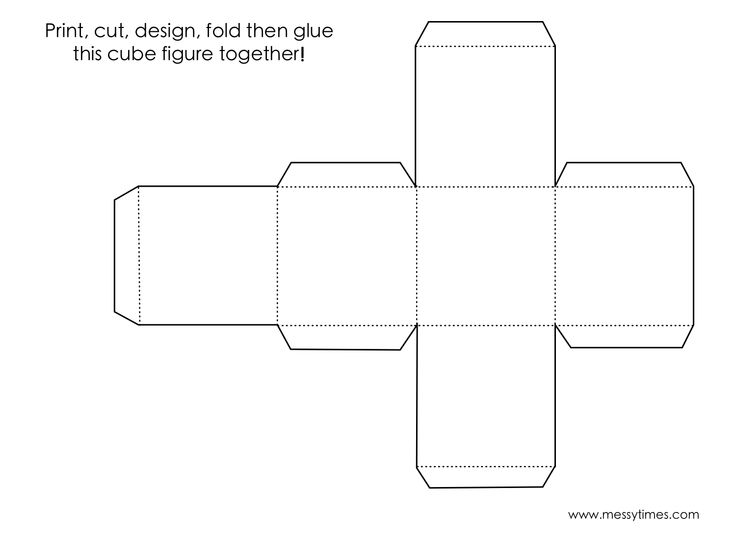 how to make a paper cube template
