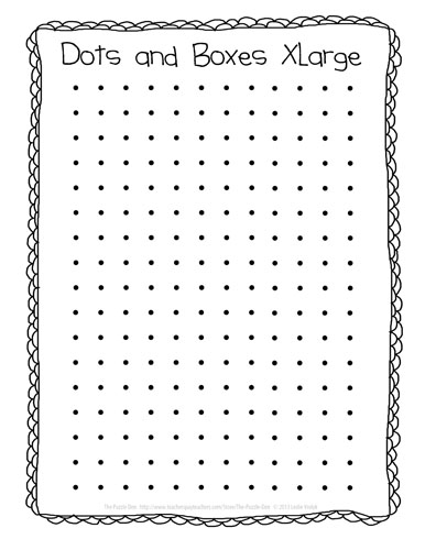 4 Images of Printable Dots Game On Paper