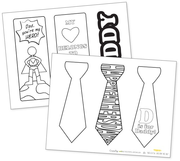 7 Images of Printable Bookmark Father's Day