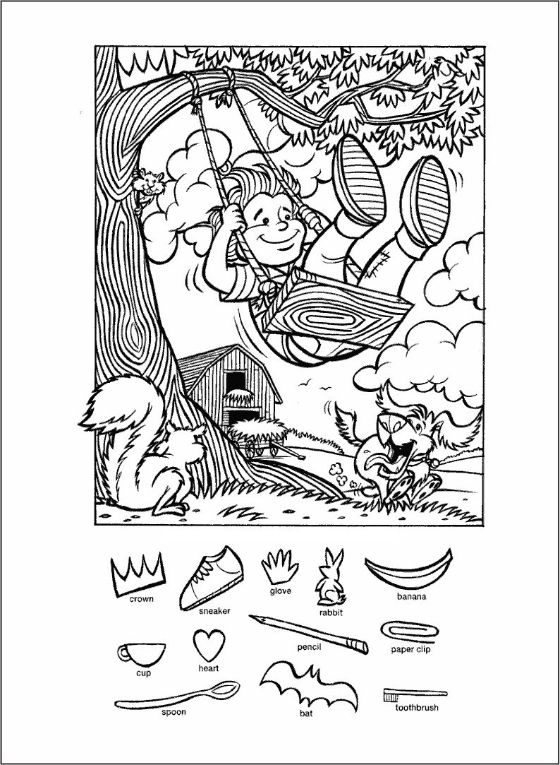 Find Hidden Objects Puzzles Printable