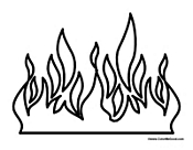 5 Images of Fire Flame Coloring Pages Printable