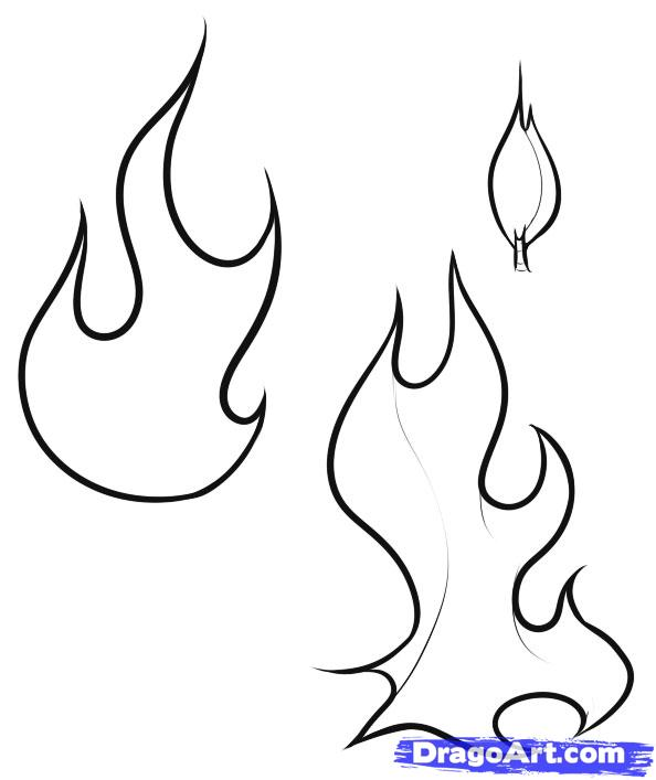5 Best Images of Fire Flame Coloring Pages Printable ...