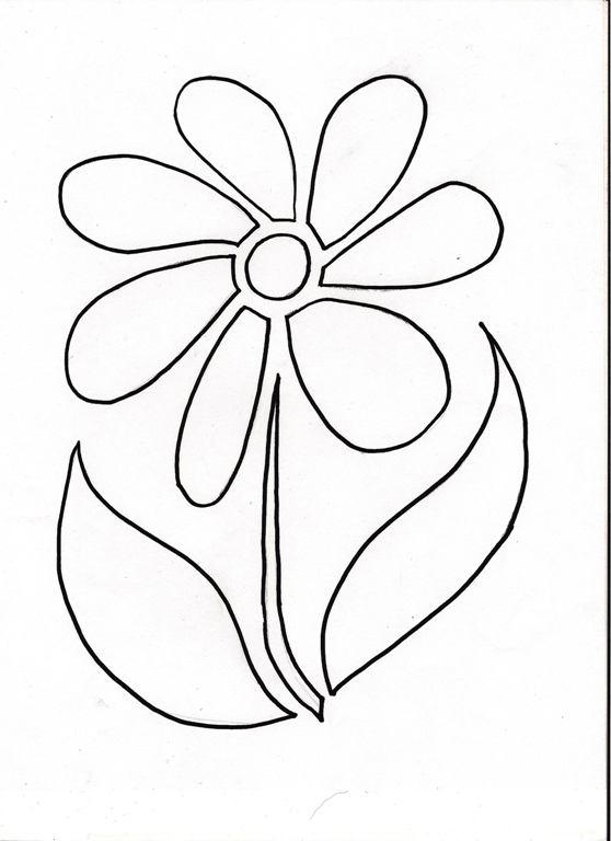 4 Images of Printable Flower Stencil Template