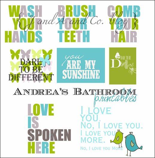 Free Bathroom Printables Kids