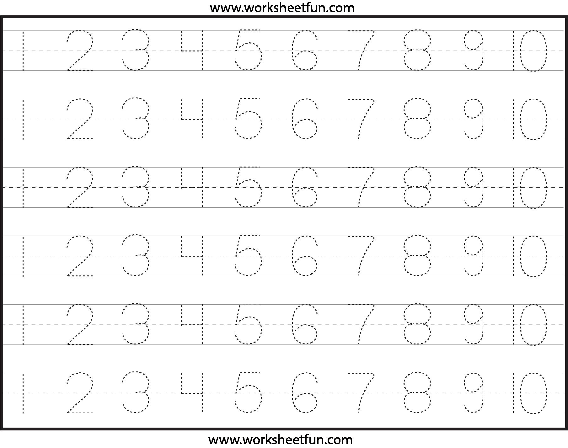 Number Writing Worksheets Free - K5 Worksheets