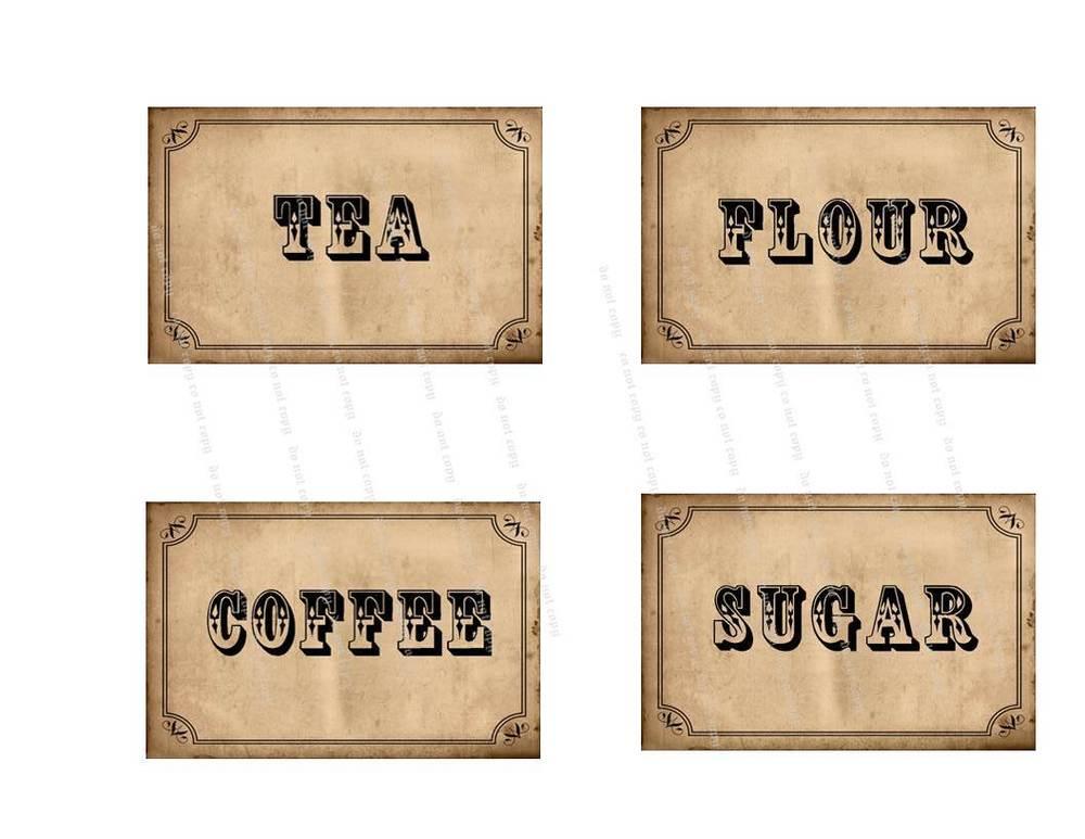 5 Best Images of Printable Primitive Labels - Free