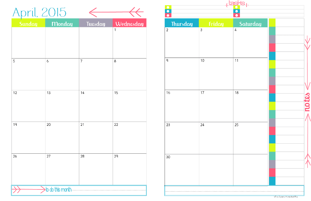 Calendar Ideas Per Month : Best images of printable calendar month per page