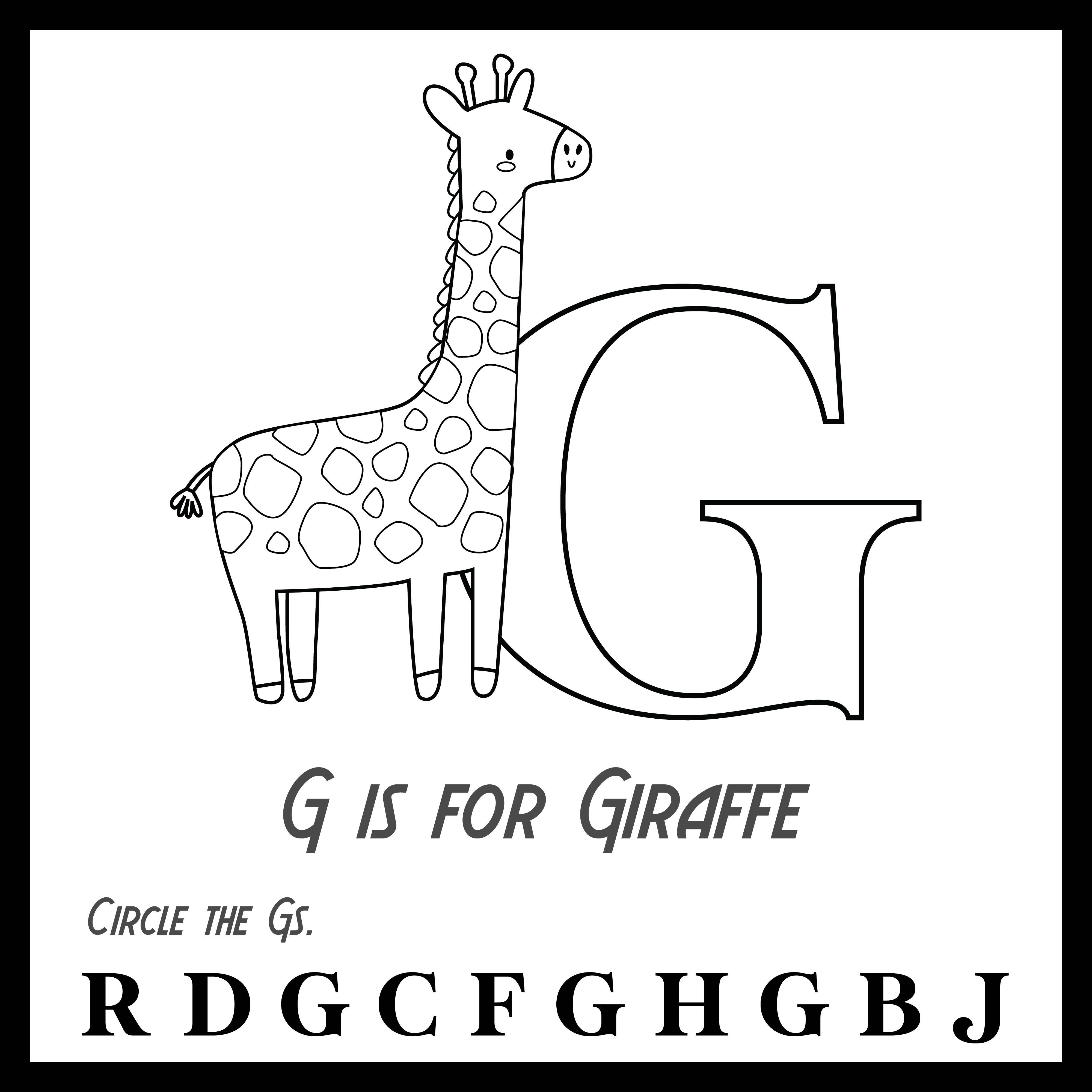 Printable Alphabet Letter G Worksheets