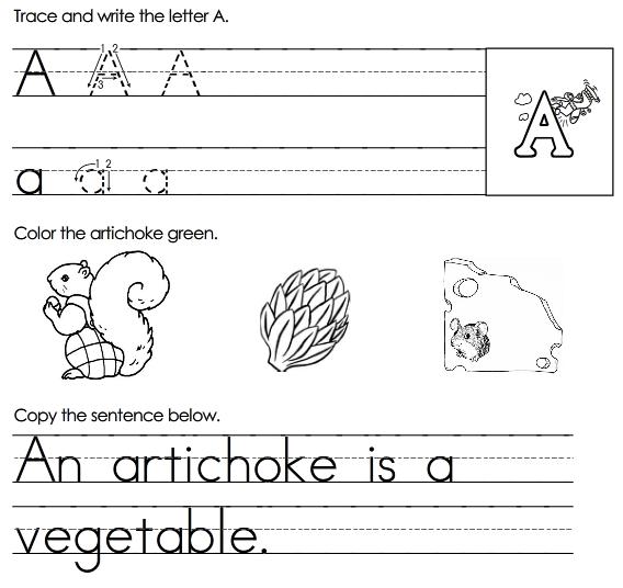 Printables. Free Printable Letter A Worksheets. Gozoneguide ...