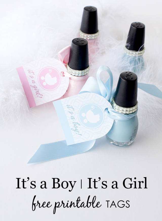 5 Images of Printable Tags It's A Boy