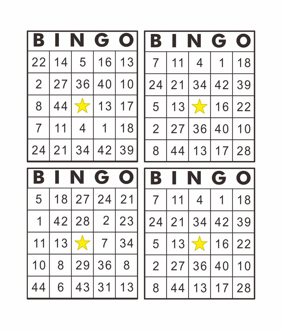 Printable Bingo Card Sheets