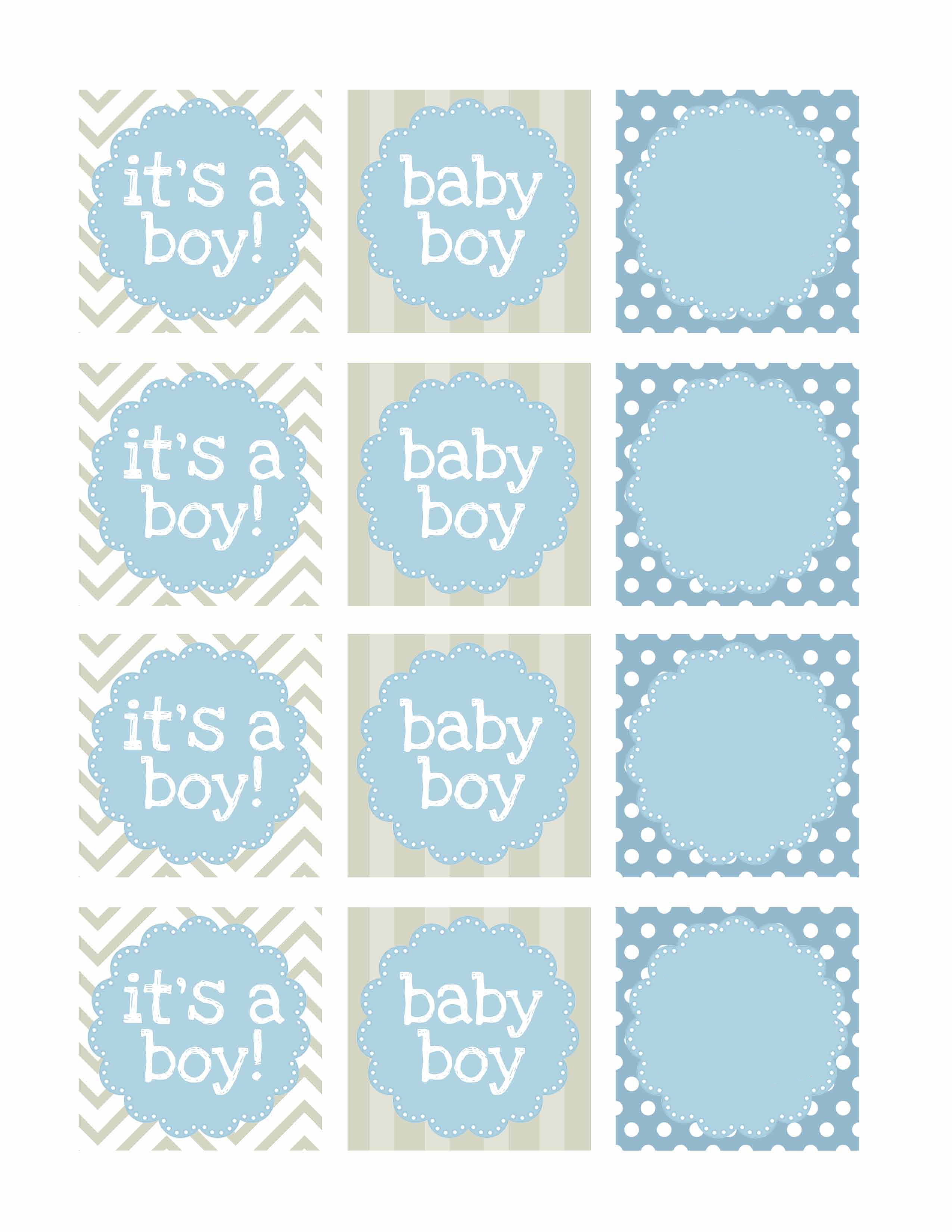 4 Images of Boy Baby Shower Banner Printables