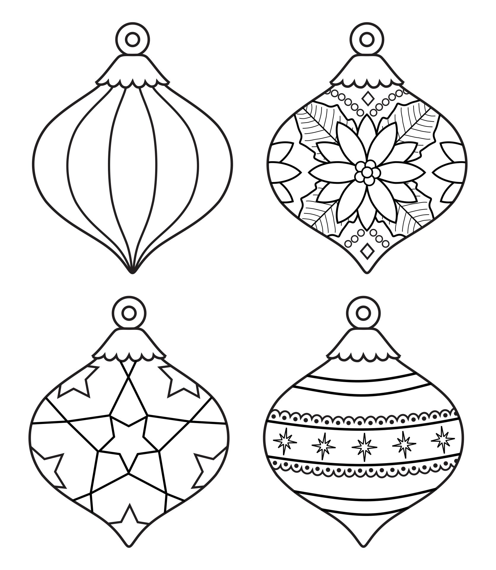 Printable Christmas Tree Ornaments Templates