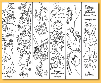 5 Images of Printable Bible Bookmarks To Color For Kids