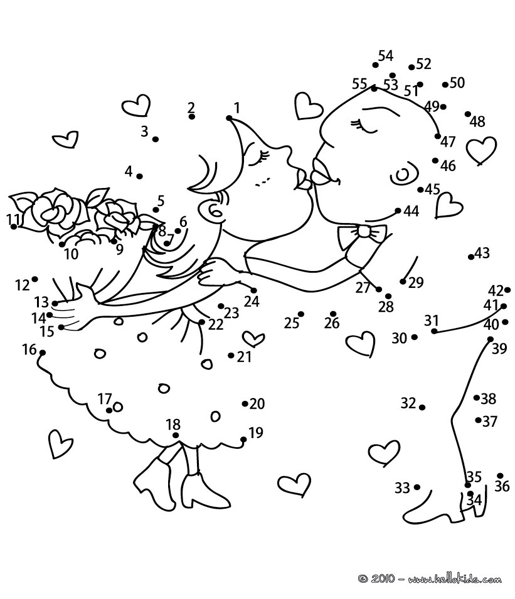 6 Images of Wedding Dot To Dot Printables