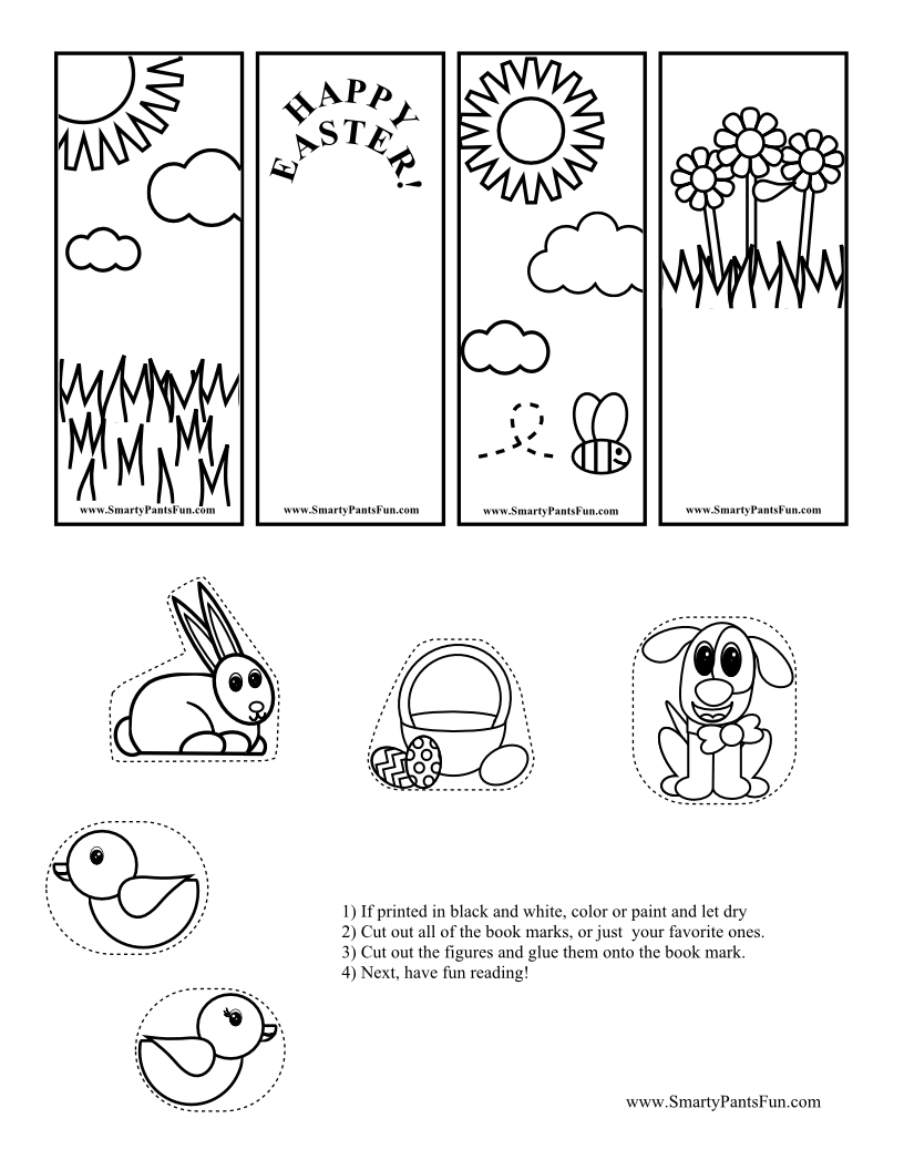 Free Printable Easter Bookmarks for Kids