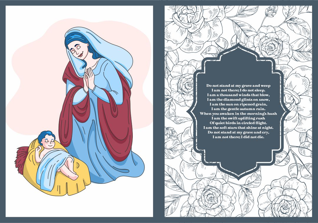 Memorial Cards For Funeral Template Free | free printable funeral memorial card template 391274