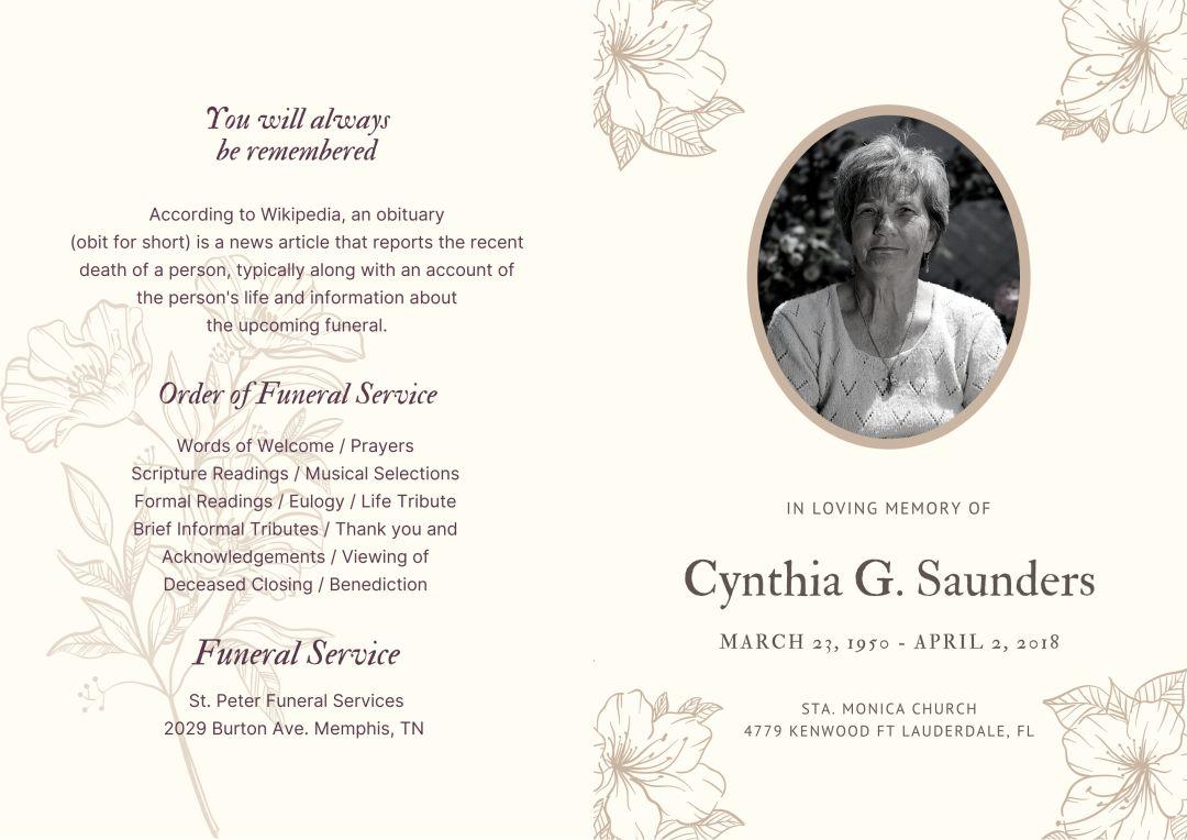 21 Best Printable Memorial Card Templates - printablee.com Inside Memorial Card Template Word
