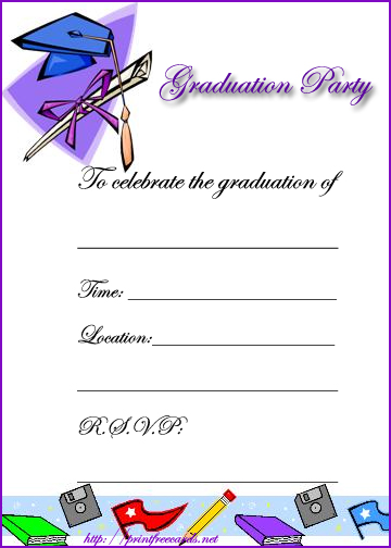 7 Images of Free Printable Graduation Invitations