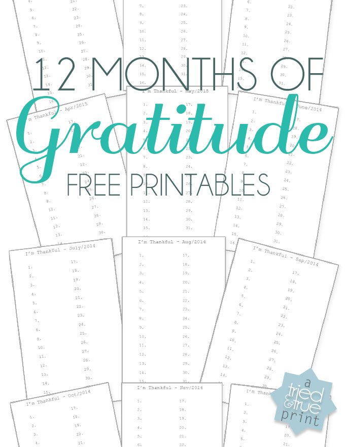5 Images of Free Printable Gratitude Journal