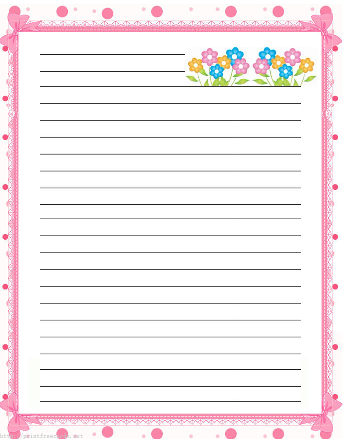 Free Printable Lined Writing Paper Stationery